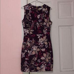 Calvin Klein Burgundy floral dress